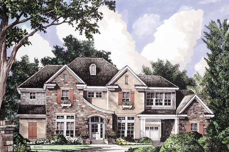 House Plan Design - Country Exterior - Front Elevation Plan #952-192