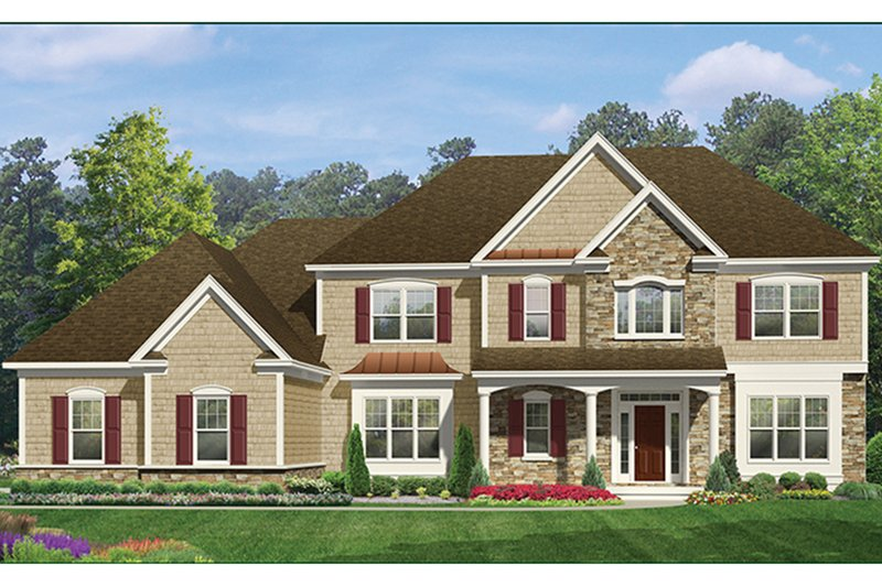 Colonial Exterior - Front Elevation Plan #1010-176