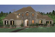 Country Exterior - Front Elevation Plan #937-36