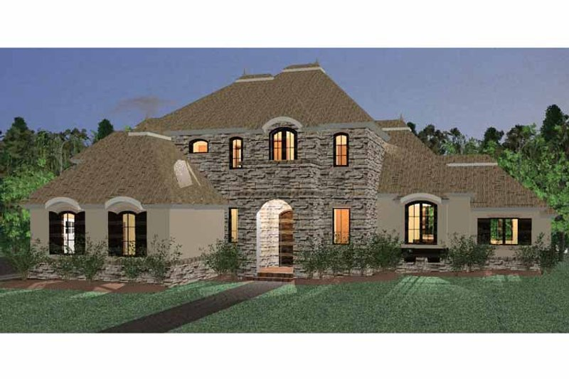 Dream House Plan - Country Exterior - Front Elevation Plan #937-36