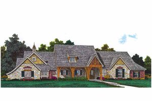 Dream House Plan - Craftsman Exterior - Front Elevation Plan #310-1253