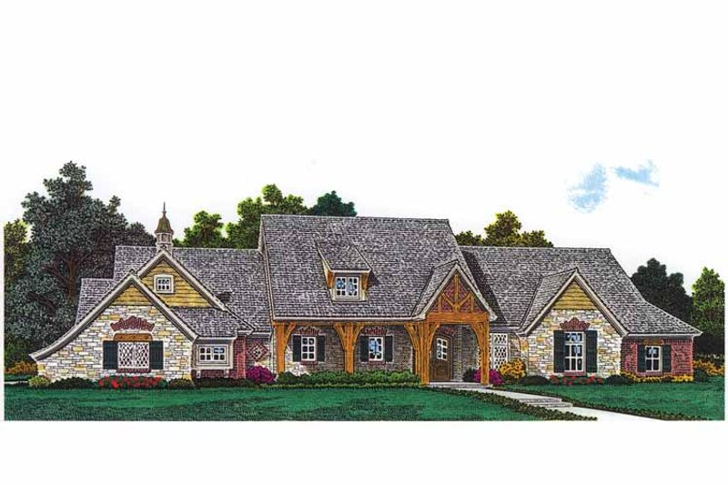 Architectural House Design - Craftsman Exterior - Front Elevation Plan #310-1253