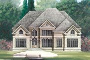 European Style House Plan - 5 Beds 4 Baths 3254 Sq/Ft Plan #119-263 Exterior - Front Elevation