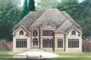 European Exterior - Front Elevation Plan #119-263