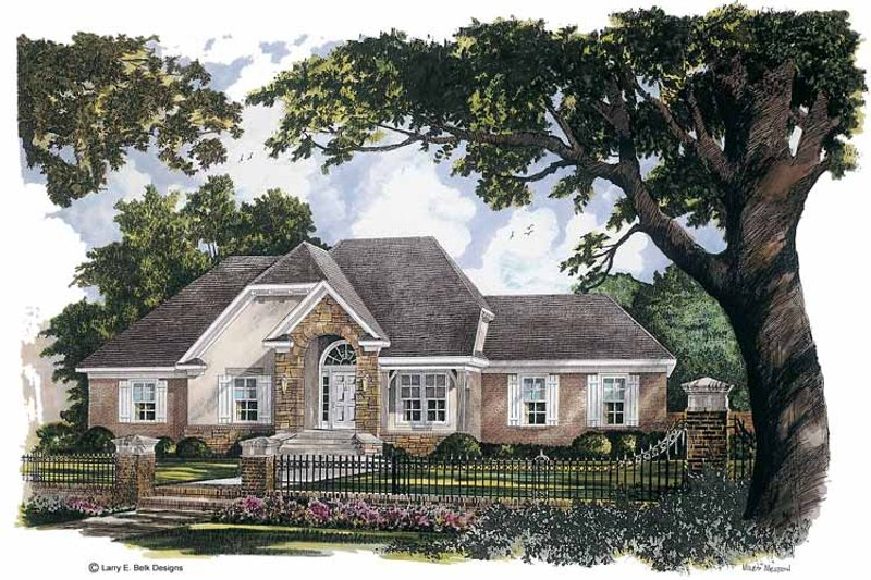 Country Exterior - Front Elevation Plan #952-257