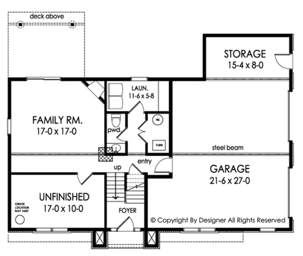 Contemporary Floor Plan - Other Floor Plan Plan #1010-203