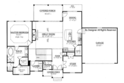 Ranch Style House Plan - 3 Beds 2.5 Baths 2303 Sq/Ft Plan #437-77 Floor Plan - Main Floor Plan