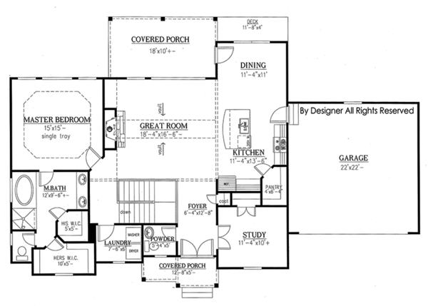 Ranch Floor Plan - Main Floor Plan #437-77