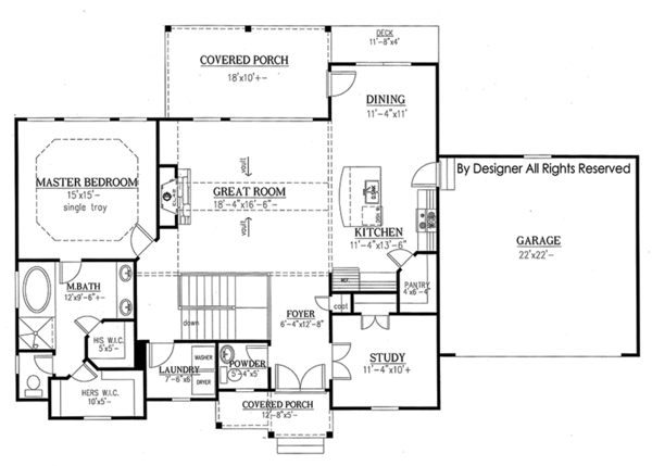 Ranch Floor Plan - Main Floor Plan Plan #437-77