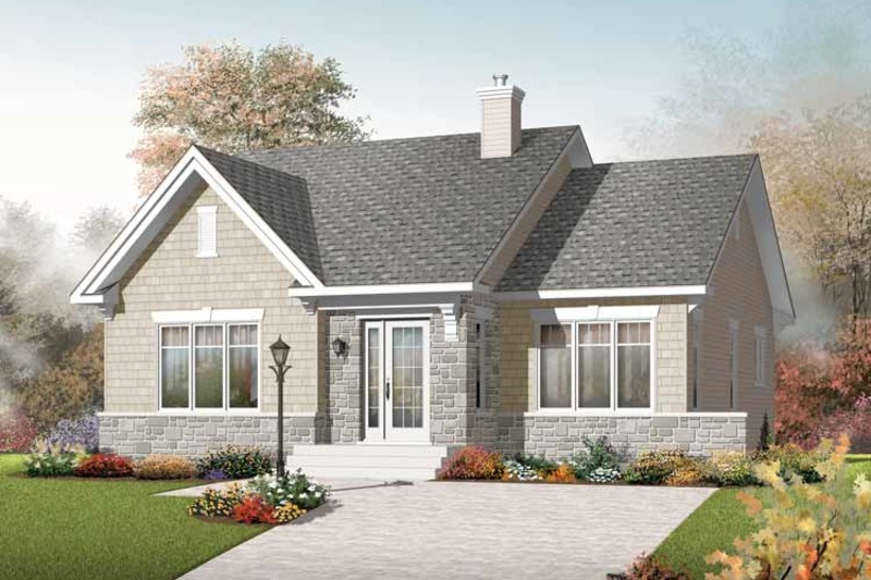 Craftsman Exterior - Front Elevation Plan #23-2414