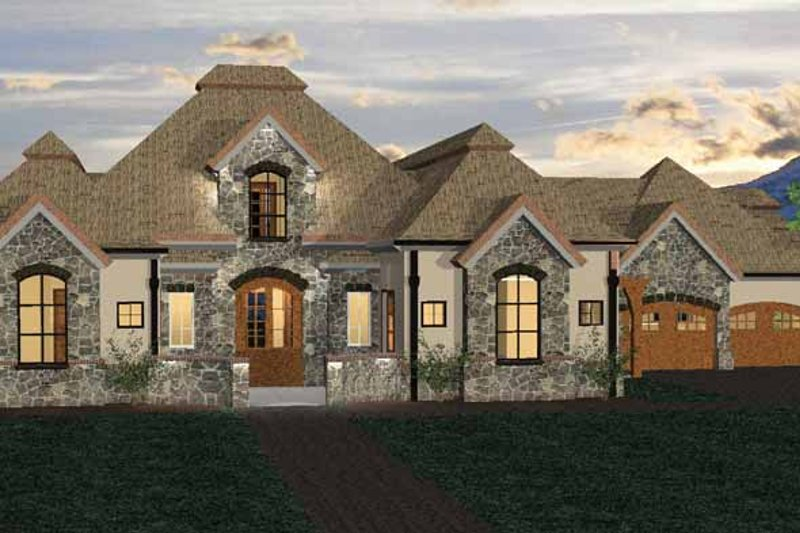 Country Exterior - Front Elevation Plan #937-6