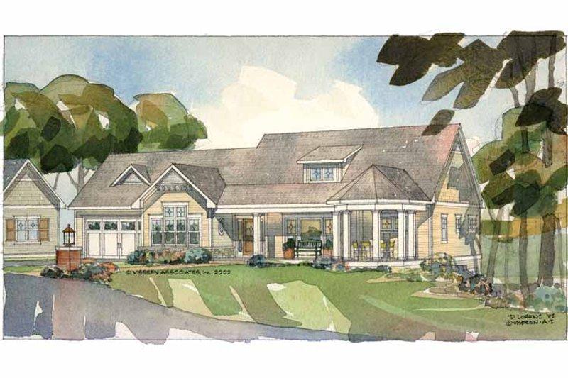Craftsman Exterior - Front Elevation Plan #928-84 - Houseplans.com