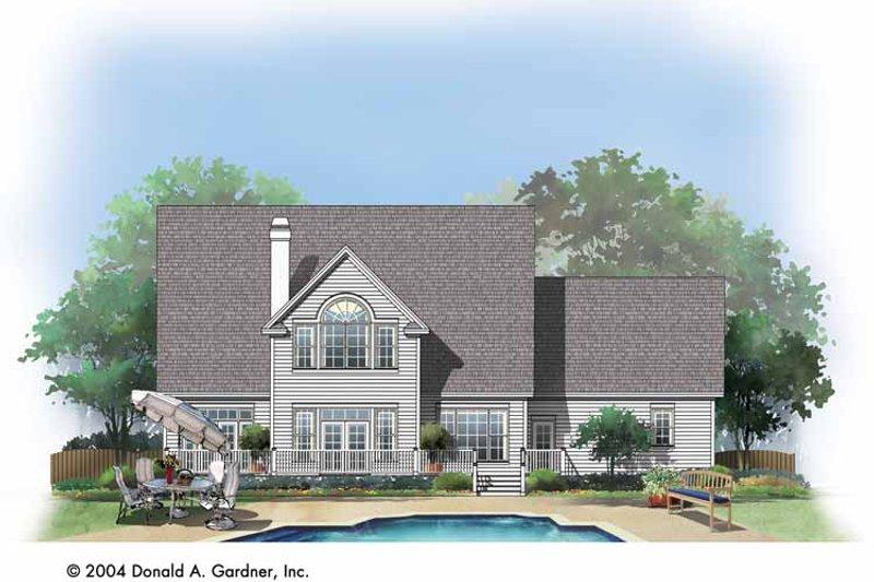 Country Exterior - Rear Elevation Plan #929-731 - Houseplans.com