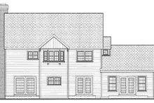 Colonial Exterior - Rear Elevation Plan #3-213