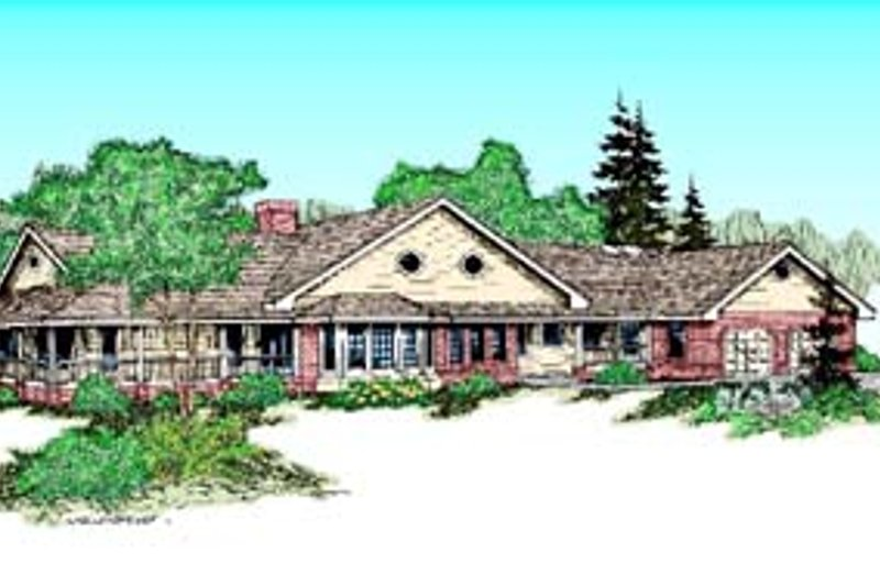 Traditional Exterior - Front Elevation Plan #60-565 - Houseplans.com