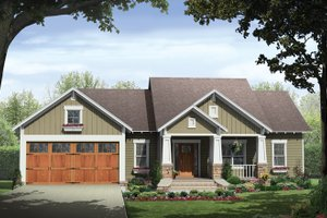 Ranch Exterior - Front Elevation Plan #21-428