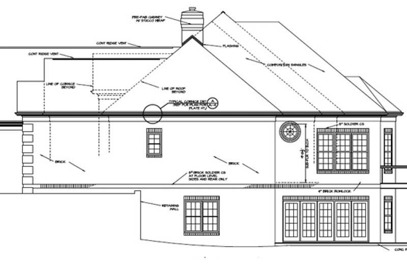 Traditional Exterior - Other Elevation Plan #453-568 - Houseplans.com