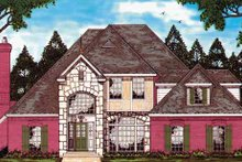 Home Plan - Country Exterior - Front Elevation Plan #42-581