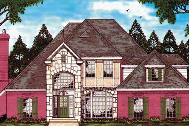 Country Exterior - Front Elevation Plan #42-581 - Houseplans.com