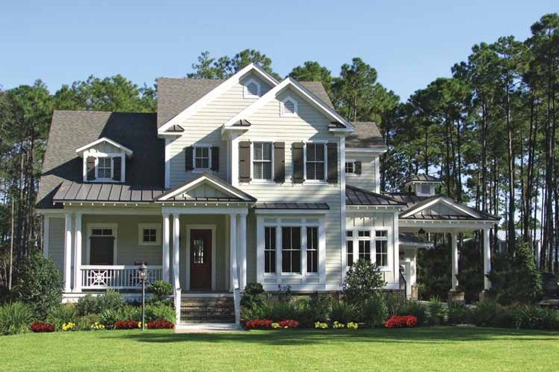 Colonial Exterior - Front Elevation Plan #54-273