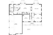 Farmhouse Floor Plan - Main Floor Plan Plan #1060-1