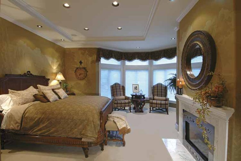 Country Interior - Master Bedroom Plan #132-483 - Houseplans.com