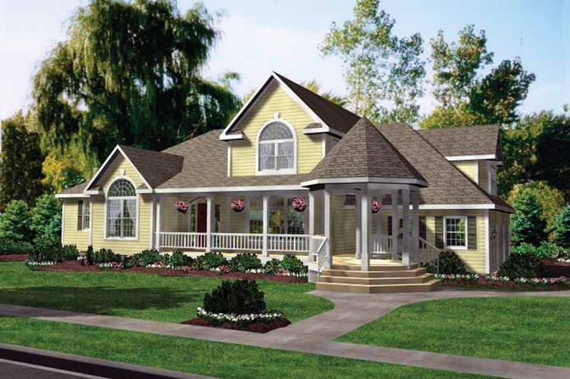 Victorian Exterior - Front Elevation Plan #314-199 - Houseplans.com