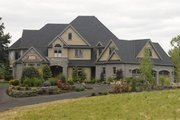 European Style House Plan - 5 Beds 5.5 Baths 6020 Sq/Ft Plan #48-365 Exterior - Front Elevation