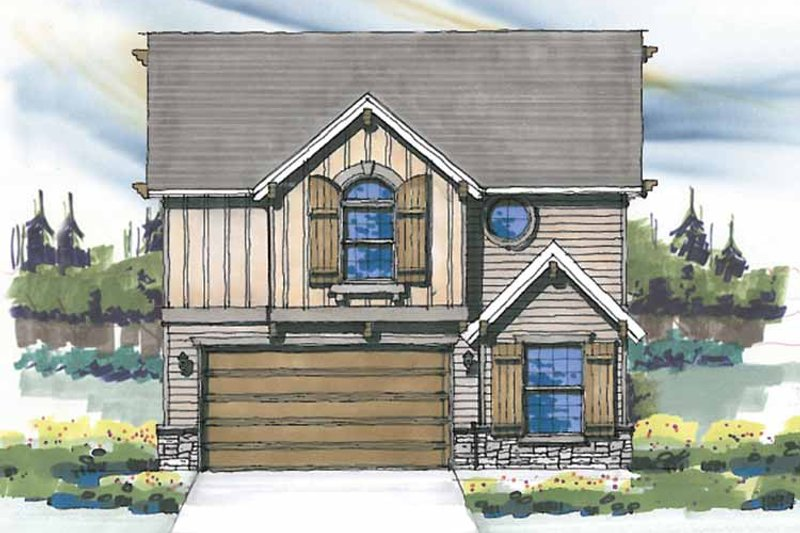 Prairie Exterior - Front Elevation Plan #509-309 - Houseplans.com