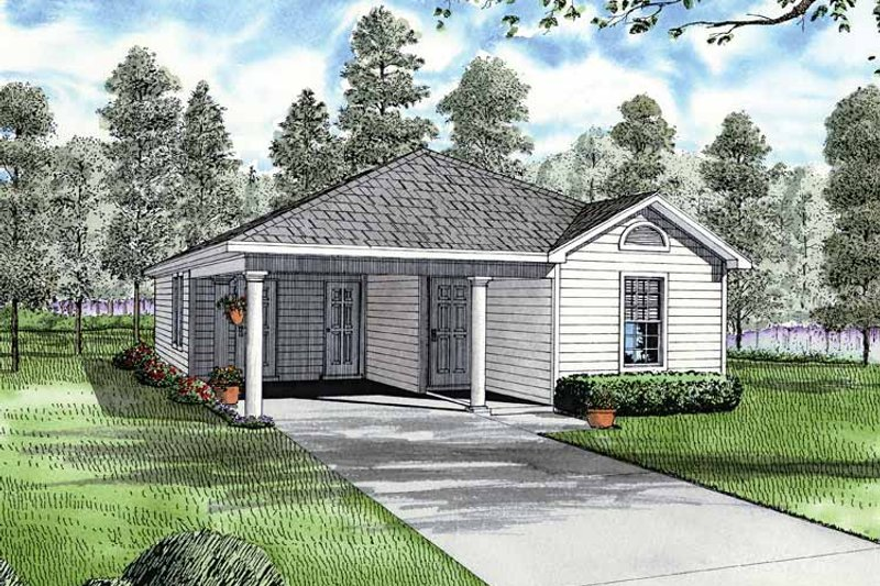 Dream House Plan - Ranch Exterior - Front Elevation Plan #17-2809