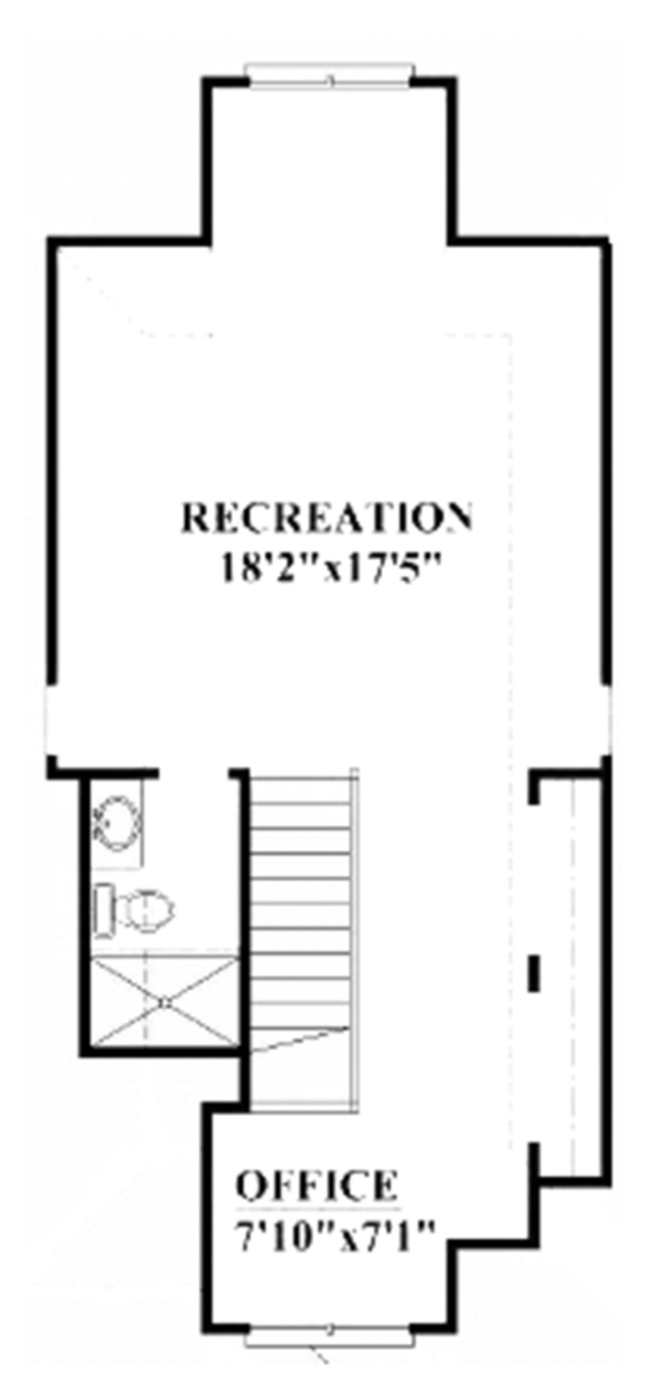 Craftsman Floor Plan - Other Floor Plan Plan #991-25