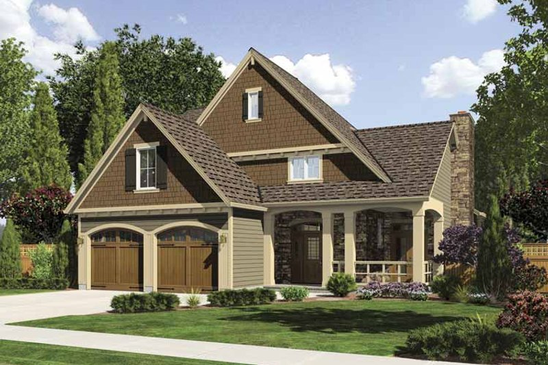 Traditional Exterior - Front Elevation Plan #509-322 - Houseplans.com