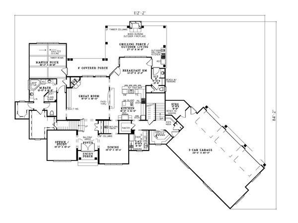 European Floor Plan - Main Floor Plan Plan #17-2380