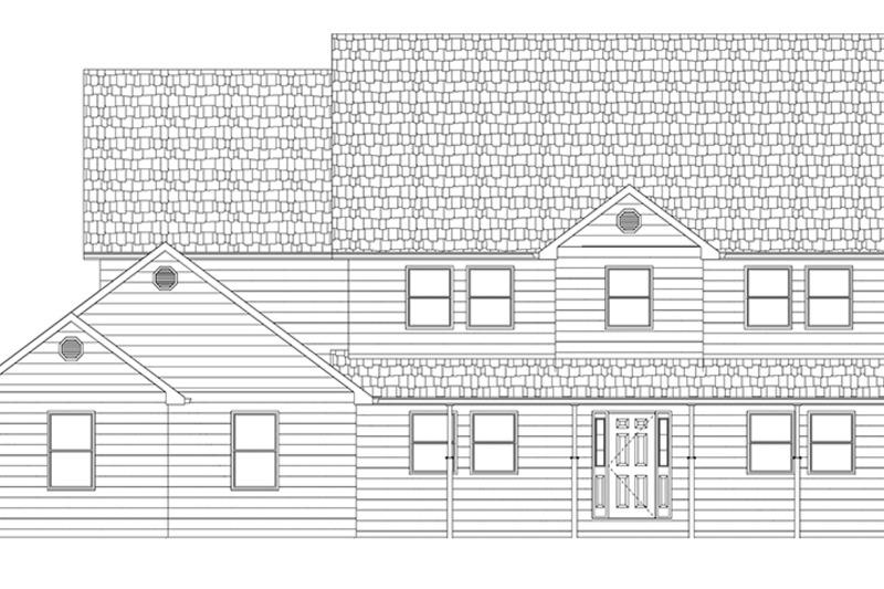 Colonial Exterior - Front Elevation Plan #1060-1 - Houseplans.com