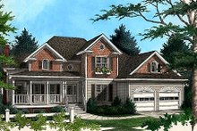 Country Exterior - Front Elevation Plan #56-192