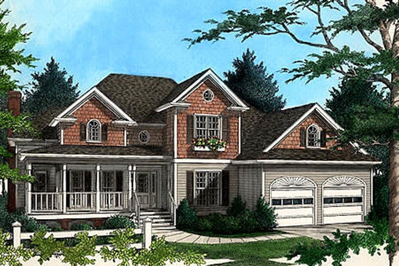Home Plan Design - Country Exterior - Front Elevation Plan #56-192