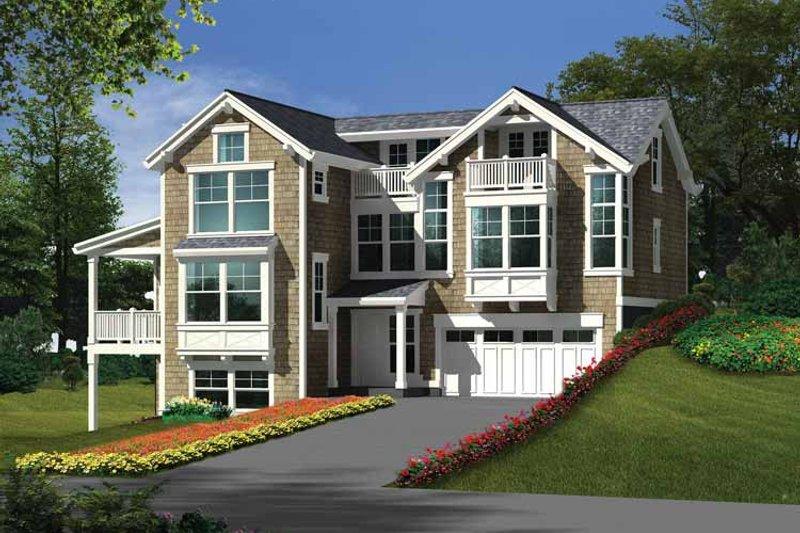 Craftsman Exterior - Front Elevation Plan #132-276
