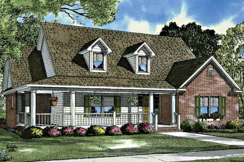 Country Exterior - Front Elevation Plan #17-3199 - Houseplans.com