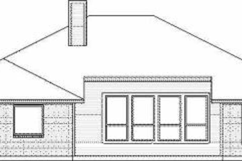 Traditional Exterior - Rear Elevation Plan #84-128 - Houseplans.com