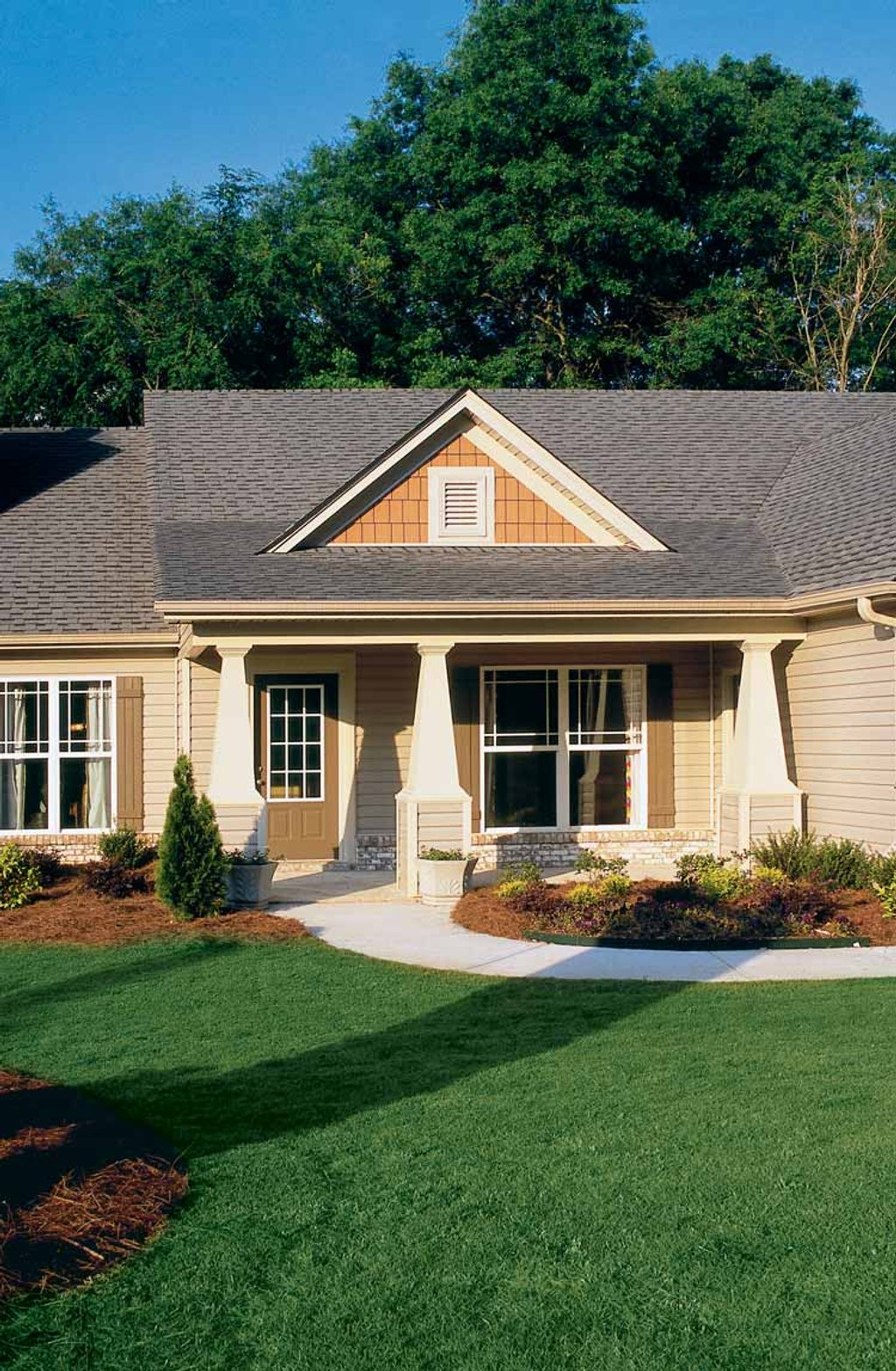 Country style house plan 3 beds 2 baths 1406 sq ft plan for Weinmaster house plans