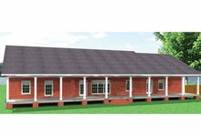 Architectural House Design - Country Exterior - Rear Elevation Plan #44-211