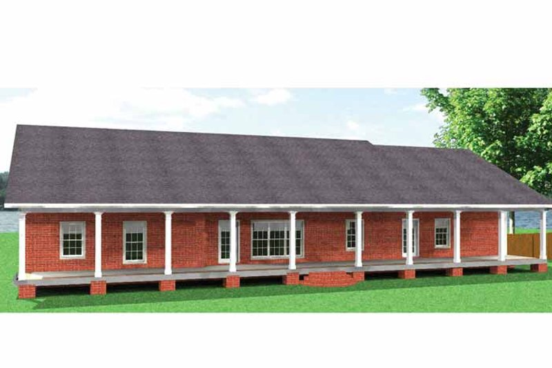 Country Exterior - Rear Elevation Plan #44-211 - Houseplans.com