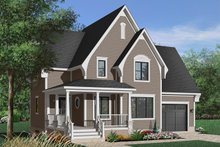 Southern Exterior - Front Elevation Plan #23-625