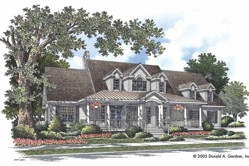 Country Exterior - Front Elevation Plan #929-727