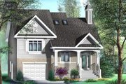 Traditional Style House Plan - 4 Beds 2 Baths 1605 Sq/Ft Plan #25-4130 Exterior - Front Elevation