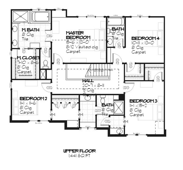 Traditional Design, European style house plan