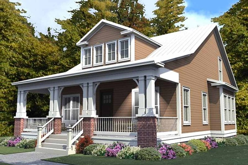 Dream House Plan - Craftsman Exterior - Front Elevation Plan #63-381