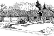 Bungalow Style House Plan - 3 Beds 2.5 Baths 1757 Sq/Ft Plan #60-331 Exterior - Front Elevation