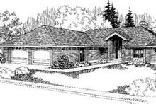 Bungalow Exterior - Front Elevation Plan #60-331