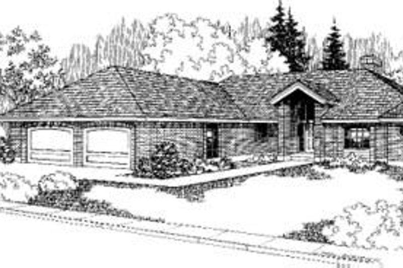 Bungalow Exterior - Front Elevation Plan #60-331 - Houseplans.com